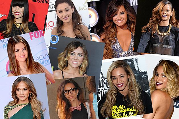 Celebrities Ombre Hair