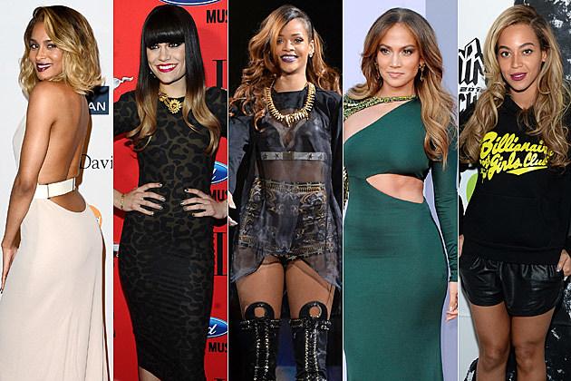 Ciara Jessie J Rihanna Jennifer Lopez Beyonce Ombre Hair