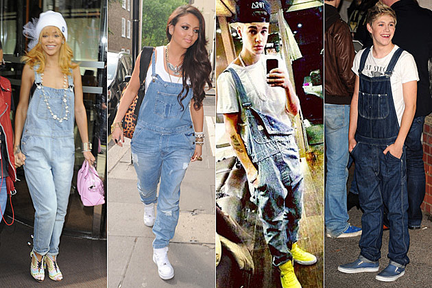 Rihanna Jesy Nelson Justin Bieber Niall Horan Overalls