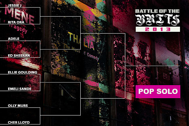 PopCrush Battle of the Brits Pop Bracket