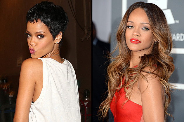 Rihanna Short Hair and Long Hair