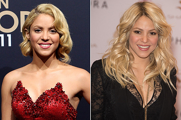 Shakira Short Hair and Long Hair