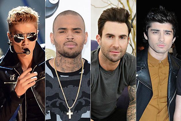 Justin Bieber Chris Brown Adam Levine Zayn Malik