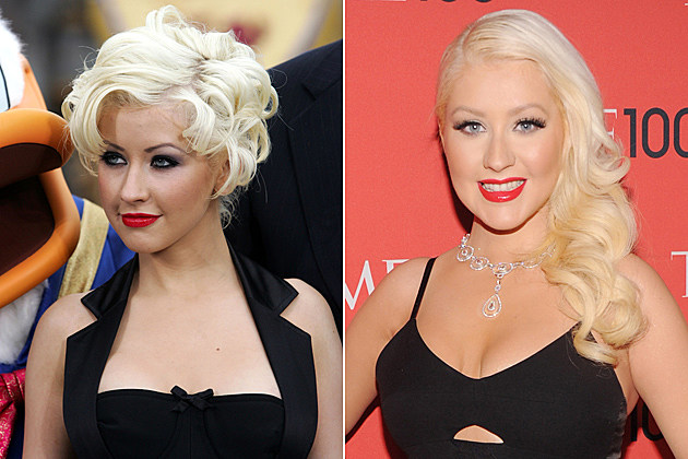 Christina Aguilera Short Hair and Long Hair