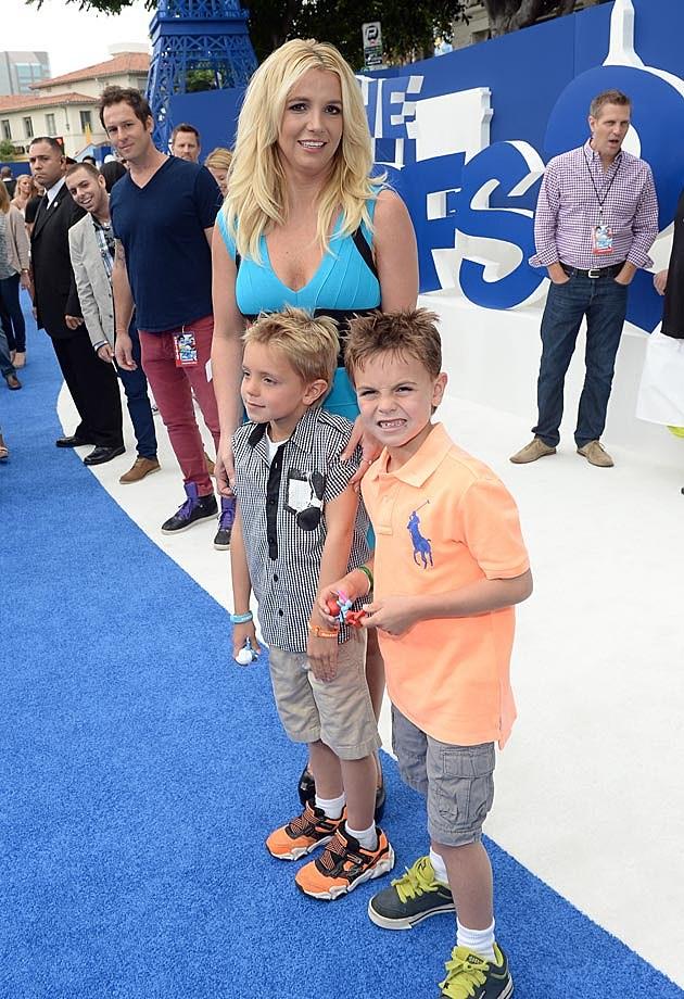 Britney Spears Herve Leger Jayden Sean Smurfs 2 Premiere