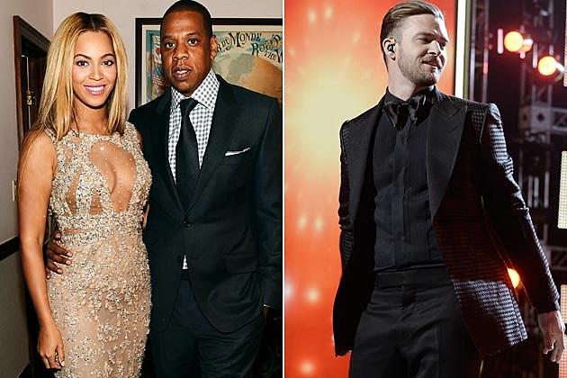 Jay-Z Beyonce Justin Timberlake