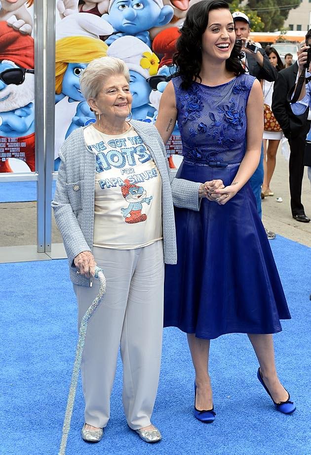 Katy Perry Tadashi Shoji Dress Ann Hudson Smurfs 2 Premiere