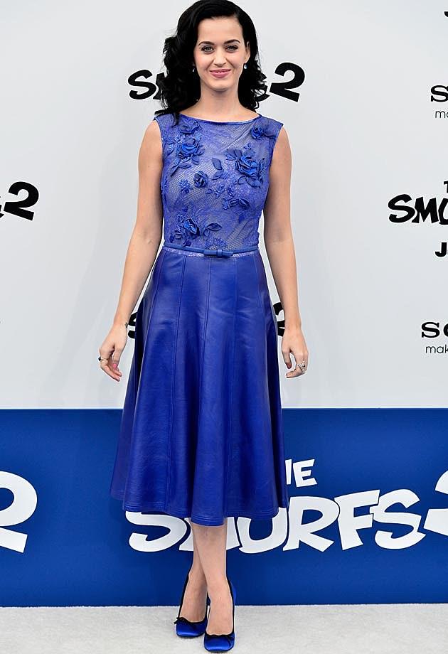 Katy Perry Tadashi Shoji Dress Smurfs 2 Premiere