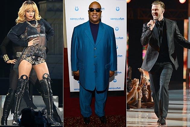 Rihanna Stevie Wonder Justin Timberlake