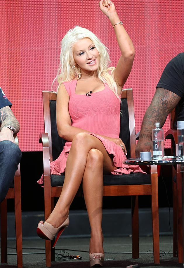 Christina Aguilera The Voice Season 5 Pink Alaia Dress