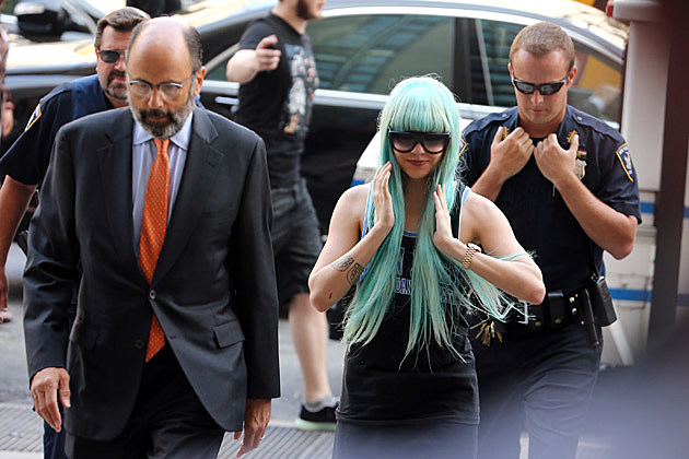 Amanda Bynes Blue Wig Court 2013