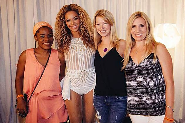 Beyonce, Adrianne Haslet-Davis, Mery Daniel and Heather Abbott