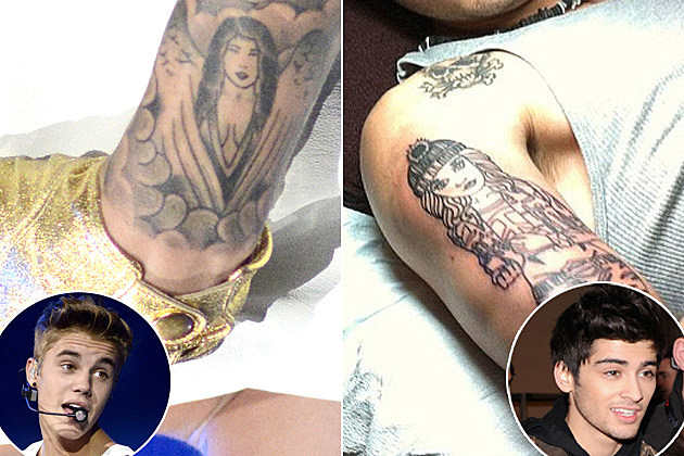 Justin Bieber Vs Zayn Malik Whose Tattoo Tribute To Their Girlfriend Do You Like Best