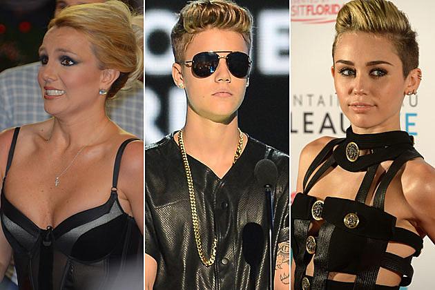 Britney Spears Justin Bieber Miley Cyrus
