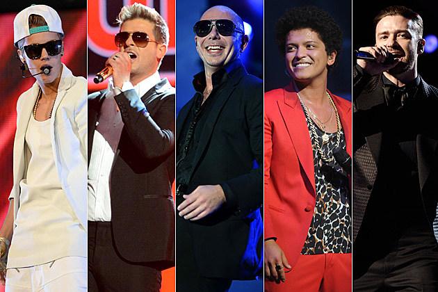 Justin Bieber Robin Thicke Pitbull Bruno Mars Justin Timberlake