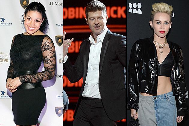 Jordin Sparks Robin Thicke Miley Cyrus