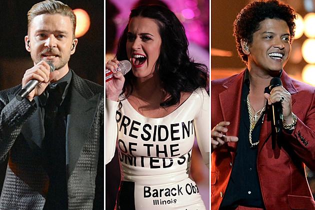 Justin Timberlake Katy Perry Bruno Mars