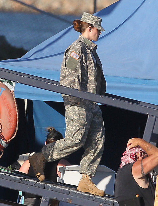 Kristen Stewart Fatigues Camp X Ray