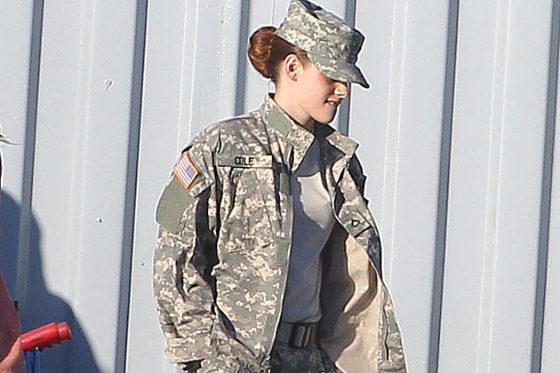 Kristen Stewart Sports Army Fatigues on the Set of 'Camp X-Ray' [Pictures]