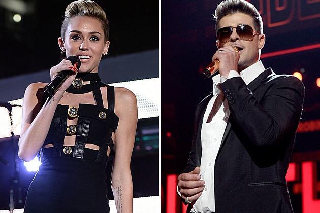 Miley Cyrus Robin Thicke