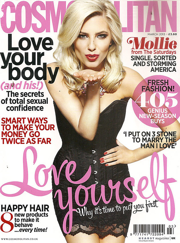 Mollie King The Saturdays Cosmo Cover 2013