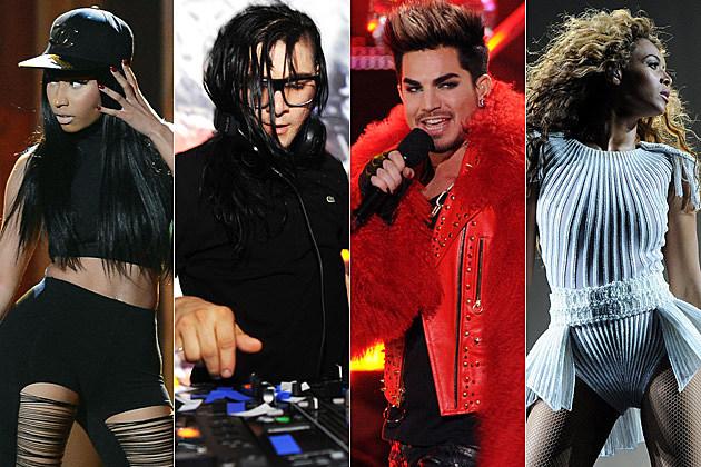 Nicki Minaj Skrillex Adam Lambert Beyonce