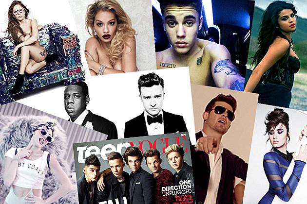 Lady Gaga Rita Ora Justin Bieber Selena Gomez Miley Cyrus One Direction JT JayZ Robin Thicke Demi Lovato