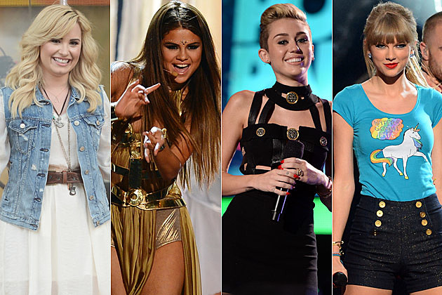 Demi Lovato Selena Gomez Miley Cyrus Taylor Swift Super Group