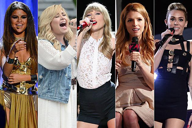Selena Gomez Demi Lovato Taylor Swift Anna Kendrick Miley Cyrus