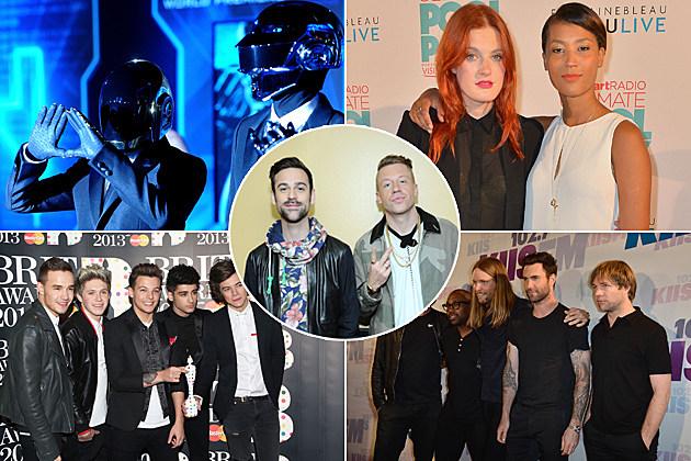 Daft Punk Icona Pop One Direction Maroon 5 Macklemore Ryan Lewis