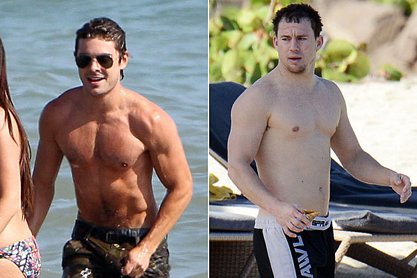 Zac efron shirtless vs channing tatum shirtless who has the hottest