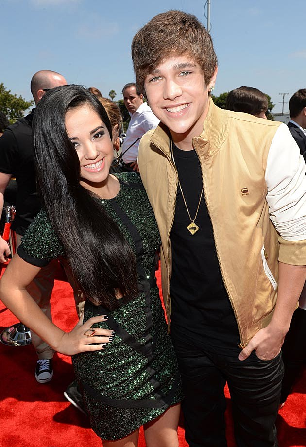 Becky G Austin Mahone 2013 Young Hollywood