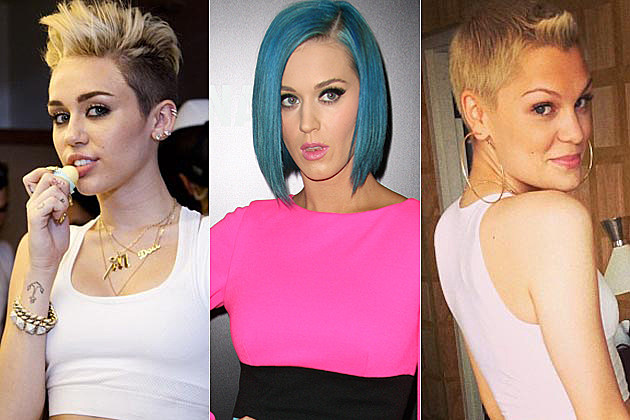 Drastic Hair Miley Katy Perry Jessie J