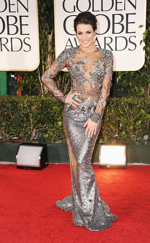 Lea Michele Silver Marchesa