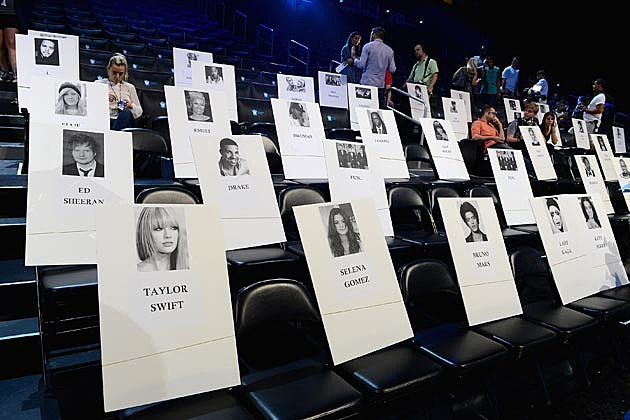 2013 MTV VMAs Seating Chart