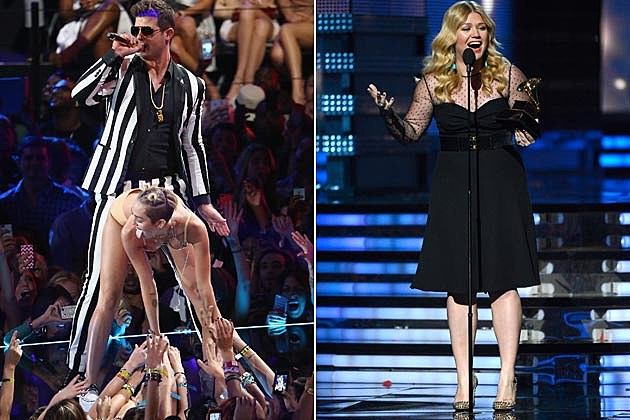 Robin Thicke Miley Cyrus Kelly Clarkson VMAs