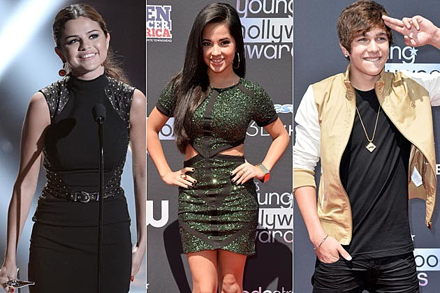 Young Hollywood 2013 Selena Gomez Becky G Austin Mahone