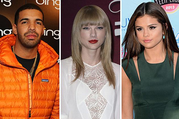 Drake, Taylor Swift, Selena Gomez