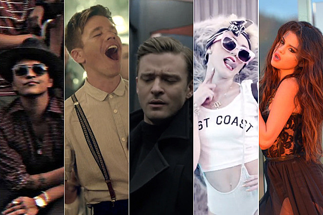 Bruno Mars Nate Ruess Justin Timberlake Miley Cyrus Selena Gomez Pop Video