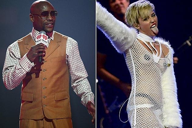 Floyd Mayweather Miley Cyrus