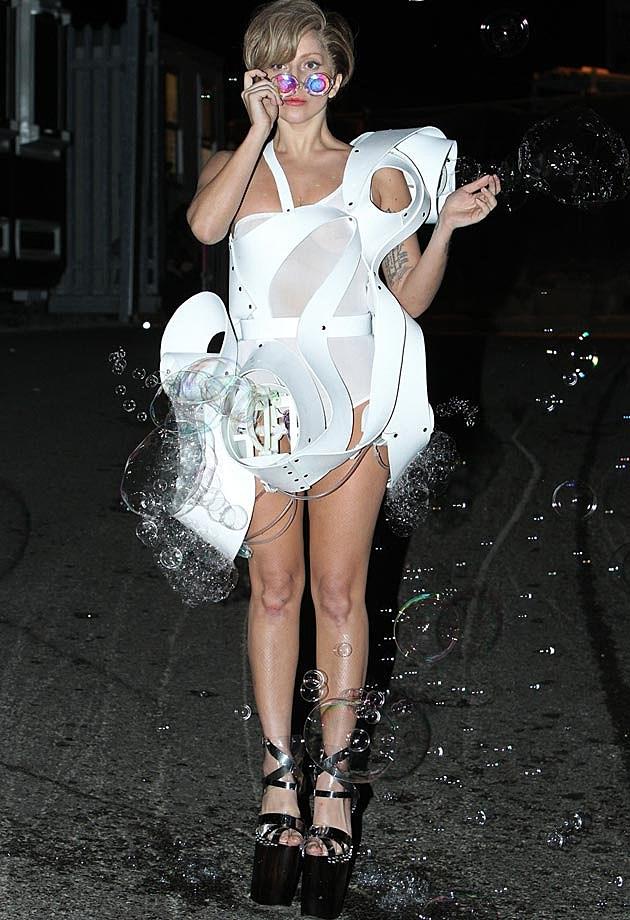 Lady Gaga Bubble Dress London