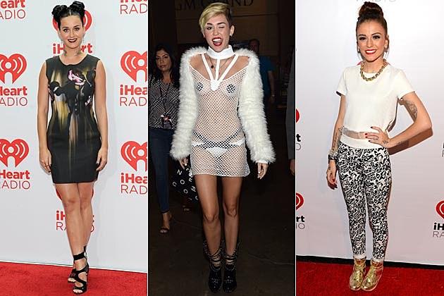 IHeartRadioRedCarpet Katy Perry Miley Cyrus Cher Lloyd