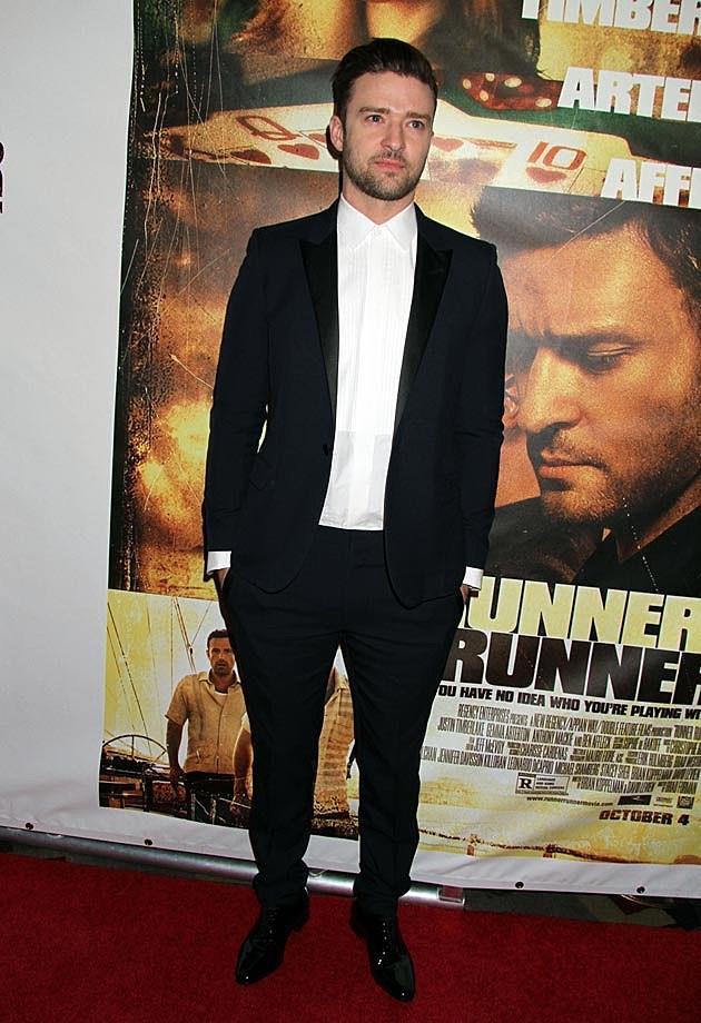 Justin Timberlake Jessica Biel Runner Runner Tuxes