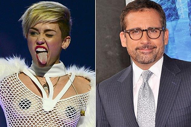 Miley Cyrus Steve Carell