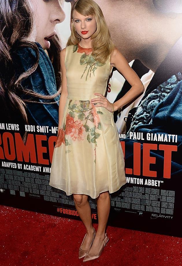 Taylor Swift Reem Acra Romeo + Juliet Premiere