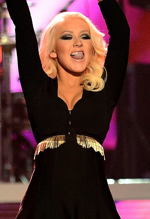 Christina Aguilera Tongue