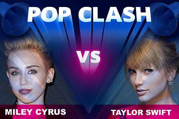 Miley Cyrus vs. Taylor Swift - Pop Clash
