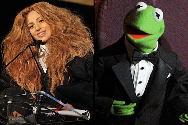Lady Gaga Kermit the Frog