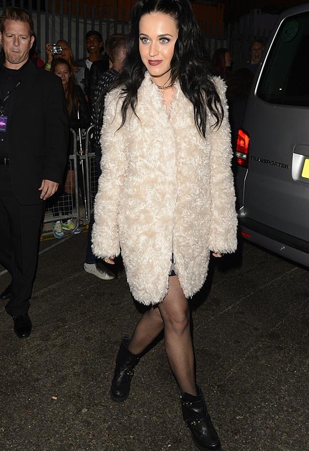 Katy Perry White Coat