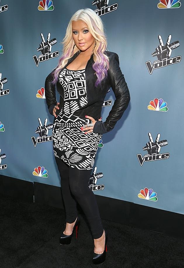 Christina Aguilera Leather Jacket